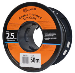 Gallagher grondkabel Kabel 2,5mm 25m rol 35 Ohm 1km 065011