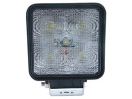 LED werklamp vierkant (10-30 volt) 15 watt Radio Ontstoord
