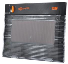 Gallagher schrikdraadapparaat zonnepaneel S20 exclusief batterij 12V 0,2 J