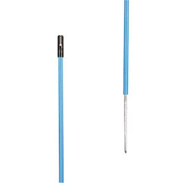 Afrastering paal Kunststof paal blauw, 0,50m + 0,20m pen 10STUKS