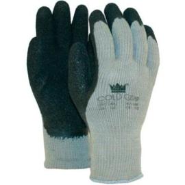 Werkhandschoen grijs/zwart gevoerd Coldgrip 47-180