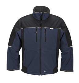 fleece softshell jas Terratrend heren werkjas 3683 marine zwart