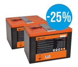 Duopack batterij 2 x 9V/175Ah (190x125x160mm)