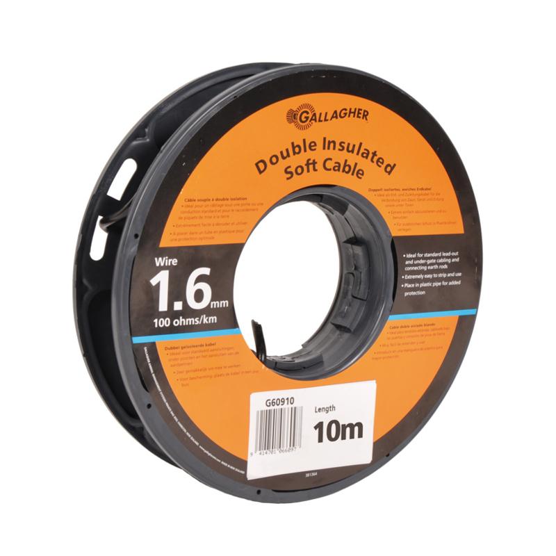 Gallagher grondkabel Kabel 1,6mm 10m rol 100 Ohm 1km 065028