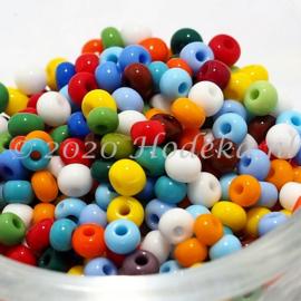 CRP06/69a  50 gram Preciosa Rocailles 6/0 Kleuren mix