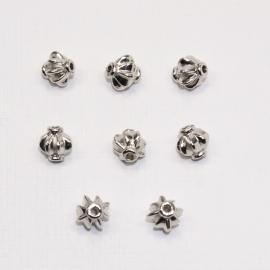 MTL12   8 x  metalen kraal Rond  8x8mm Antiek Zilver