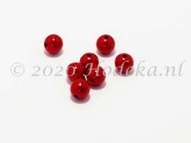 MIR08/29  10 x miracle beads Tomaten Rood ca. 8mm