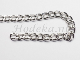 KBH06  10 cm ketting Antiek zilver ca. 8 x 6 mm