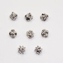 MTL12a   25 x  metalen kraal Rond  8x8mm Antiek Zilver