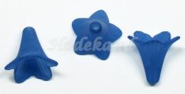 BVE83  3 x bloem 24 x 22mm Donker Blauw