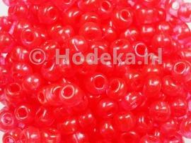 CRP06/23a  50 gram Preciosa Rocailles 6/0 Rood transparant