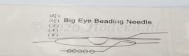 BNN06  1 x Big Eye Beading Needle 75x0.5mm