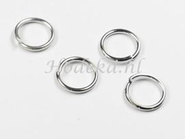 BHR27  30 ringetjes 9mm Antiek zilver