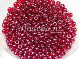 Opruiming van de CRP09/10  12 gram Preciosa Rocailles 9/0 Donker Rood Transparant