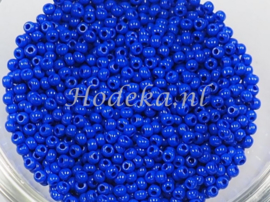 CRP10/52  12 gram Preciosa Rocailles 10/0 Donker Blauw
