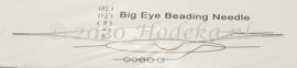 BNN01 1 x Big Eye Beading Needle 125mm