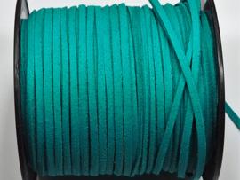 BSV37  1 meter imitatie Suede Veter Zeeblauw 3mm
