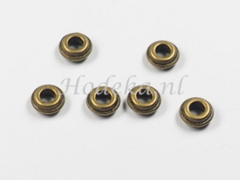 MTL94   14 x Metalen Spacer  3x6 mm Brons
