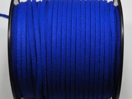 BSV35  1 meter imitatie Suede Veter Fel Blauw 3mm
