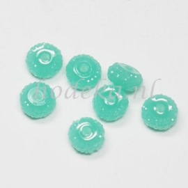 RBS03  6 x Rain bead Groen/Blauw 5x8mm