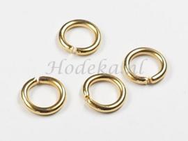 BHR30  20 ringetjes 9 x 1.5mm Goudkleur
