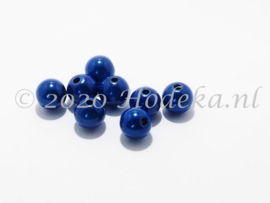 MIR10/25  8 X miracle beads  Donker Blauw 10mm