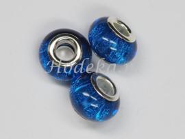 PDK07  1x pandora style Kunsthars kraal Donker blauw