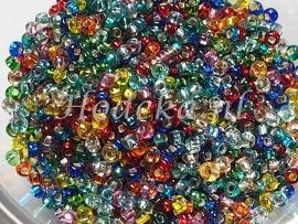 CRP10/06  12 gram Preciosa Rocailles 10/0 Kleurenmix Silverlined