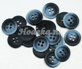 KNO41 1 x Donker en Licht Blauwe knoop ca. 15 x 2 mm