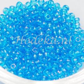 CRP08/21a  50 gram Preciosa Rocailles 8/0 Blauw AB