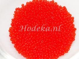 CRP15/17  12 gram Preciosa Rocailles 15/0 Donker Oranje transparant