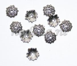 BKK06  8  x  Metalen Kralenkapjes ca.12mm