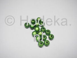 MIR08/04  12 X miracle beads Groen  ca. 8mm