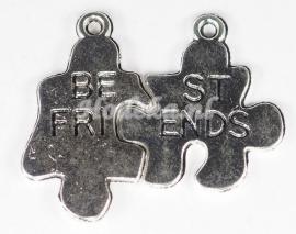 BDG29 1 x Breekbedel Puzzel Antiek Zilver Best Friends