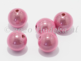 MIR12/07  6 X miracle beads Roze 12mm