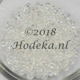 CRP06/39  12 gram Preciosa Rocailles 6/0Transparant parelmoer