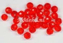 FCR06/06  12 x glaskraal facet Rood 6 mm