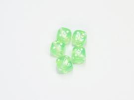 Opruiming van de DBS03 10x dobbelsteentjes Groen 10mm