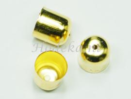 BKK40  8 x  Metalen eindkap 11x10mm Goudkleur