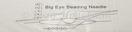 BNN07  1 x Big Eye Beading Needle 100x0.5mm