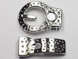 BMS14a   3 x Magneetsluiting Gesp voor Leer  32x22mm
