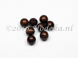 MIR10/23  10 X miracle beads  Donker Bruin 10mm