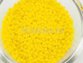 CRP10/53a  50 gram Preciosa Rocailles 10/0 Donker geel