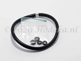 RKK02 Rubberen armband met sluiting ca. 25cm