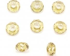 ACR15/01   5 x acrylkraal rondel ca. 8 x 15mm Olivine