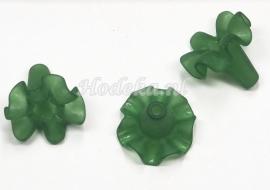 BVE75  3 x bloem ca.18 x 21mm  Donker Groen 1+1gratis