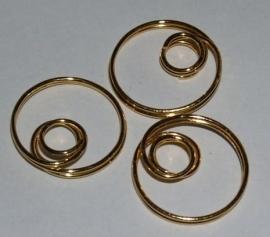 MKV04 4 x Ornament met oog voor kraal van 8mm Goud