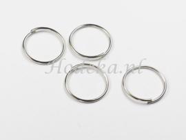 BHR32  30 x Flexibel ringetje 15mm Antiek Zilver