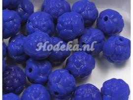 CZR17a  40 x Tsjechische Glaskraal Rond 7mm Blauw