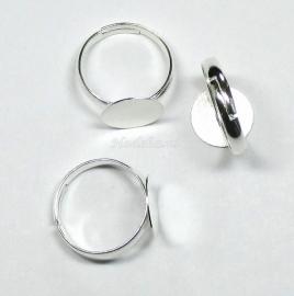 OVR04 1x ring voor om je vinger ca. 17 mm 12 mm Zilver kleur